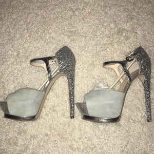 Shoes - Boutique Grey Suede Platform sz 9